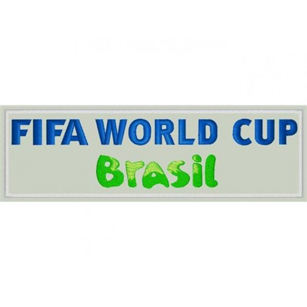 PATCH RICAMATA FIFA WORLD CUP BRAZIL 2014 - TOPPA TERMOADESIVA