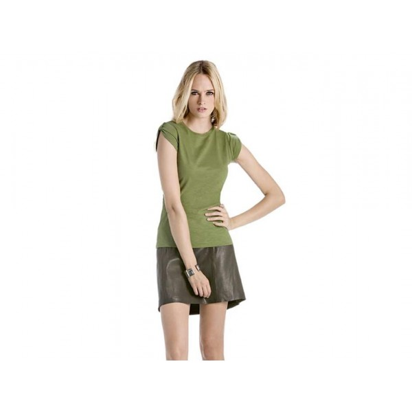 T-SHIRT DONNA MANICA ARRICCIATA TOO CHIC B&C COLLECTION