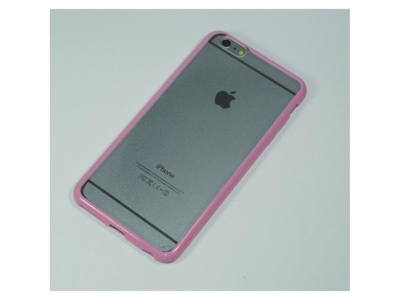 Custodia BUMPER trasparente con bordo Bianco per Apple iPhone 6