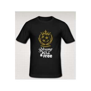 T-SHIRT UOMO CON STAMPA YOUNG WILD AND FREE ATELIER DEL RICAMO