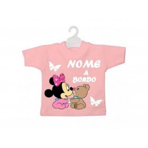 MINI T-SHIRT BIMBO A BORDO MINNIE CON PELUCHE E FARFALLE