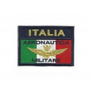 PATCH RICAMATA BANDIERA ITALIA AERONAUTICA MILITARE - TOPPA TERMOADESIVA