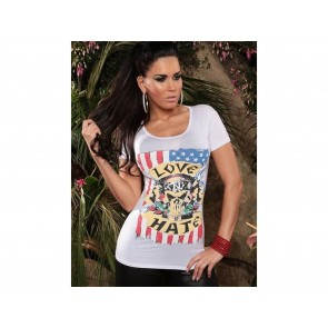 T-SHIRT DONNA CON STAMPA LOVE HATE
