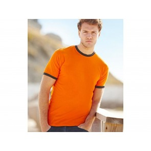 T-SHIRT UOMO RINGER BORDO IN CONTRASTO FRUIT OF THE LOOM