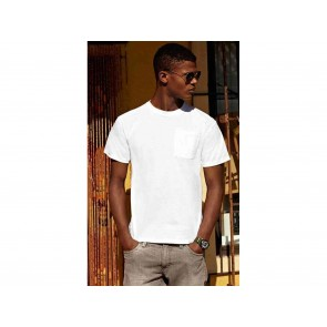 T-SHIRT UOMO HEVY COTTON CON TASCHINO FRUIT OF THE LOOM