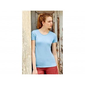 T-SHIRT DONNA ELASTICIZZATA FRUIT OF THE LOOM