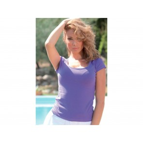 T-SHIRT DONNA SLIM CON COLLO A BARCA