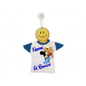 MINI T-SHIRT BIMBO A BORDO BICOLORE TOPOLINO COW BOY