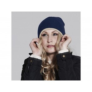 CAPPELLO A MAGLIA TWO TONE BEANIE KNITTED BEECHFIELD