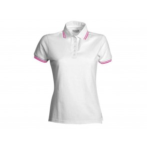 POLO DONNA CON BORDO FLUO IN CONTRASTO PAYPER