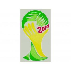 PATCH RICAMATA COPPA BRASILE 2014 - TOPPA TERMOADESIVA