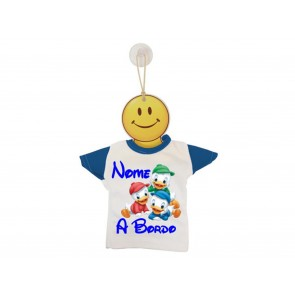 MINI T-SHIRT BIMBO A BORDO BICOLORE QUI QUO QUA