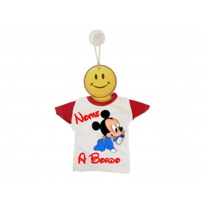 MINI T-SHIRT BIMBO A BORDO BICOLORE TOPOLINO