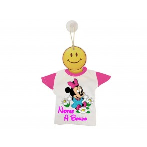 MINI T-SHIRT BIMBO A BORDO BICOLORE MINNIE