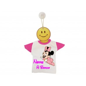 MINI T-SHIRT BIMBO A BORDO BICOLORE BABY MINNIE