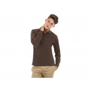 POLO UOMO MANICHE LUNGHE SAFRAN LSL B&C COLLECTION