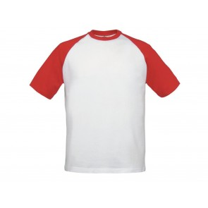 T-SHIRT UOMO MANICHE CORTE IN CONTRASTO BASEBALL B&C COLLECTION