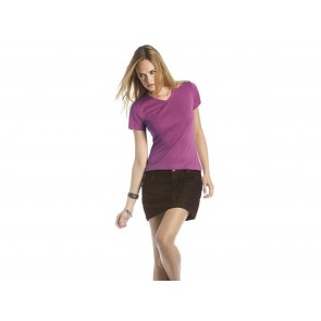 T-SHIRT DONNA ELASTICIZZATA SCOLLO A V WATCH B&C COLLECTION