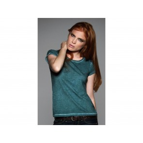 T-SHIRT DONNA DENIM MANICHE CORTE DNM PLUG IN B&C COLLECTION