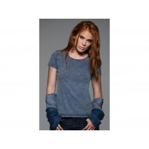T-SHIRT DONNA MODELLO JEANS MANICHE CORTE DNM EDITING B&C COLLECTION