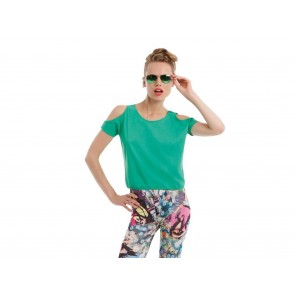T-SHIRT DONNA MANICHE A PIPISTRELLO TROPICAL B&C COLLECTION